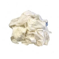Reclaimed White T-shirt Rags