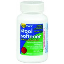 Stool Softener Unflavored Tablet by Sunmark