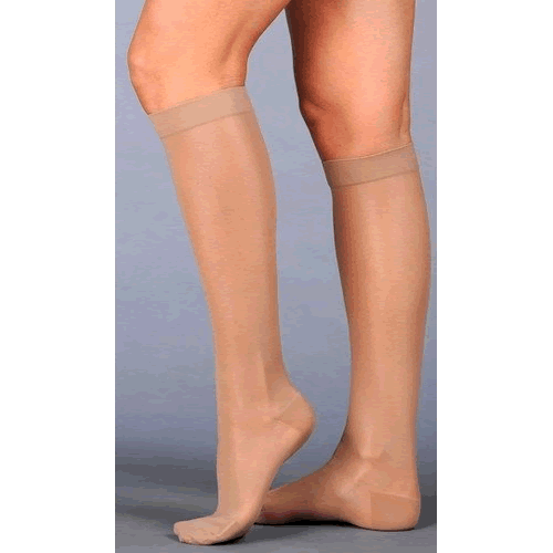 Juzo Naturally Sheer Knee High Compression Socks CLOSED TOE 30-40 mmHg