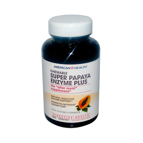 American Health Super Papaya Enzyme Plus Chewable Dietary Supplement