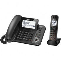 Expandable Corded/Cordless Phone w/ 1 Corded Handset and 1 Cordless Handset