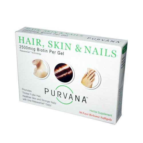 Heaven Sent Purvana Hair Skin Nails 2500 mcg Dietary Supplement