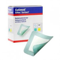 Cutimed Siltec Sorbact, 9 x 9 Inch