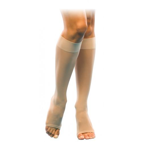 Sigvaris 120C Sheer Fashion Knee High Compression Socks OPEN TOE 15-20 mmHg