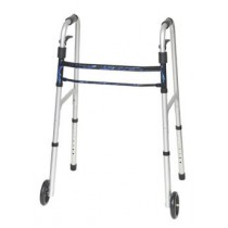 Invacare Fixed Walker - Dual Release with 5 Inch Fixed Wheels