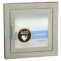 Stainless Steel Recessed AED Cabinet with Alarm