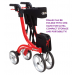 Folding Nitro Rollator Walker with One Hand