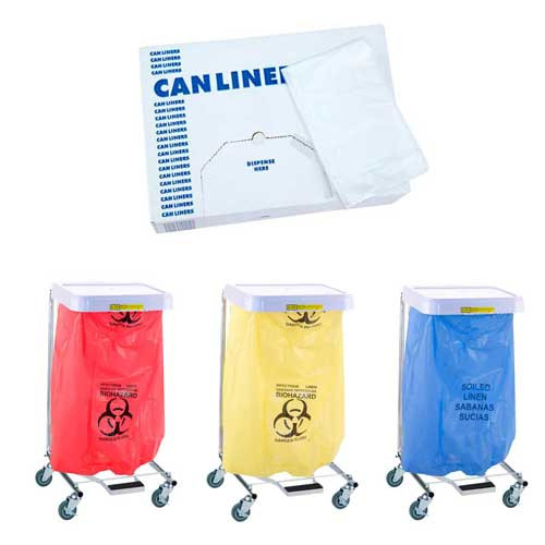 R&B Wire Hospital Linen Hamper Disposable Poly-Liner Bags
