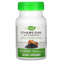 Nature's Way Activated Charcoal Bottle, 100 Capsules