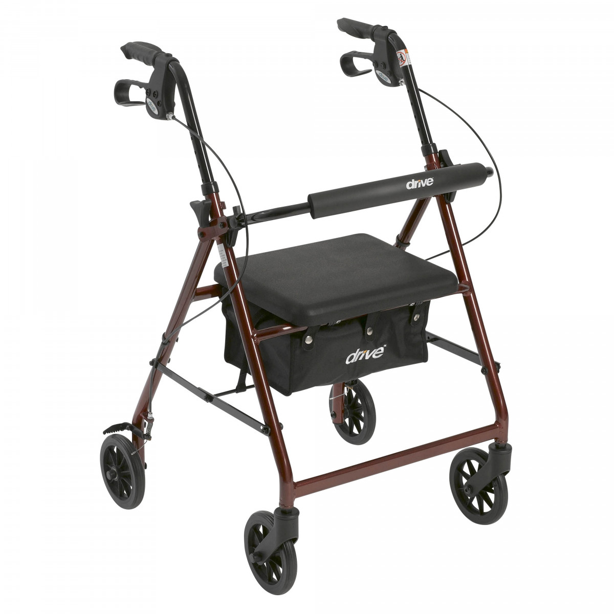 lightweight rollator with fold up and removable back support by drive f12
