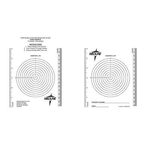 Wound Measuring Bullseye, Latex Free