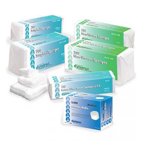 Dynarex 3222 Gauze Surgical Sponges 3x3 Inch 8 Ply