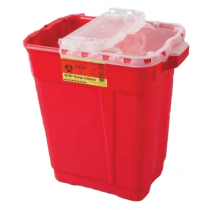 9 Gallon Red BD Sharps Container with Clear Hinge Top 305615