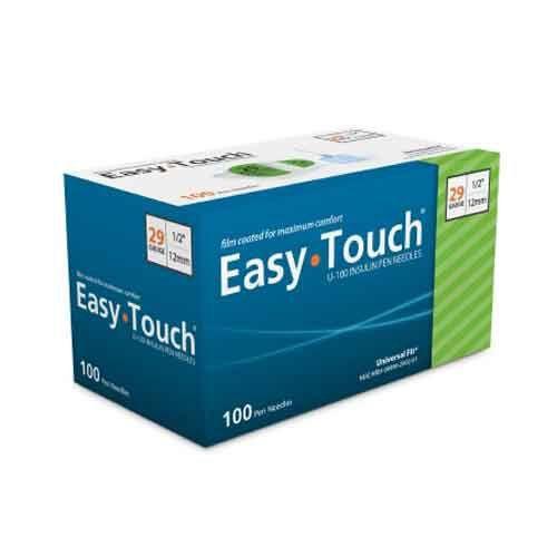 EasyTouch Insulin Pen Needle - 29 Gauge, 1/2-Inch