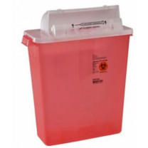 12 Quart Transparent SharpStar Sharps Container with Counterbalance Lid 8537SA
