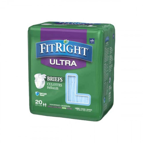 Fitright Ultra Adult Briefs w/Tabs - Large