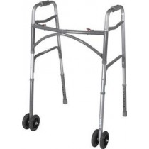 Bariatric Two Button Adult Folding Walker