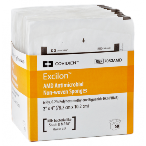 EXCILON 7083 AMD Antimicrobial Sponges Nonwoven 3x4 Inch 6 Ply