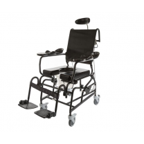 Tilt and Recline Shower Chair, Black Frame
