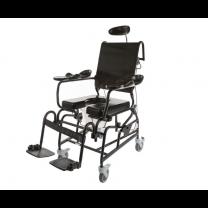 Tilt and Recline Shower Chair, Black Frame