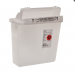5 Quart SharpSafety™ Safety In Room Sharps Container Counterbalance Lid, Clear 8506SA