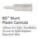 BD Blunt Plastic Cannula