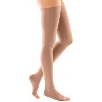 Mediven Forte Thigh High Compression Stockings w/ Silicone Top Band OPEN TOE 40-50 mmHg