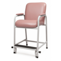 Lumex Everyday Hip Chair with Adjustable Footrest, Rosewood Upholstery