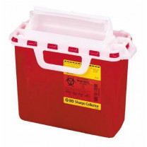 2 Gallon Red BD Sharps Container with Counterbalanced Door 305435