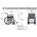 20 Inch Stainless Steel Wheelchair Specs