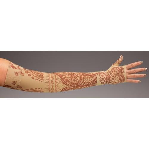 LympheDivas Bodhi Beige Compression Arm Sleeve 20-30 mmHg w/ Diva Diamond Band