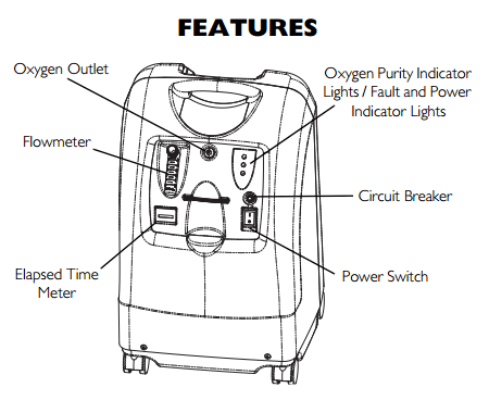 invacare perfecto2 v oxygen concentrator 5 liter