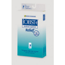 Jobst Relief Garter Style Thigh High Compression Stockings (No Grip Top) OPEN TOE 20-30 mmHg