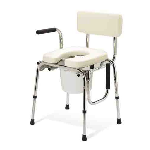Medline Guardian Padded or Unpadded Drop-Arm Commode