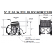 24 Inch Stainless Steel Wheelchair Specs