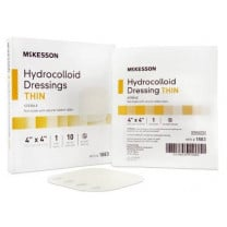 Mckesson 4 x 4 Inch Hydrocolloid Dressing - 1883 | Thin, Sterile