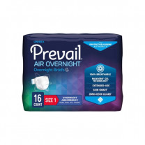 Prevail AIR Overnight Stretchable Briefs - Maximum Absorbency