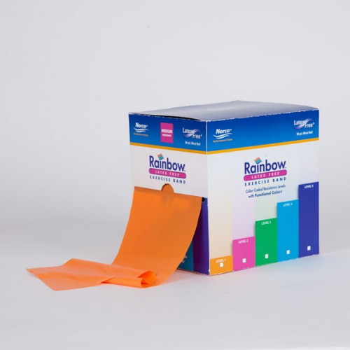 Norco Rainbow Latex-Free Exercise Bands - 50 yard box