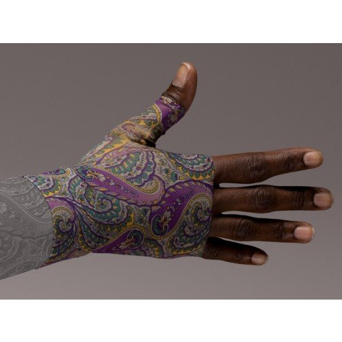 LympheDivas Purple Paisley Compression Gauntlet 30-40 mmHg