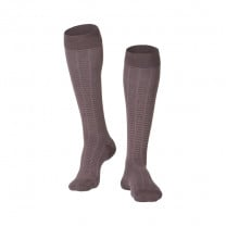 Men's Fine Checkered Compression Socks 15-20 MMHG
