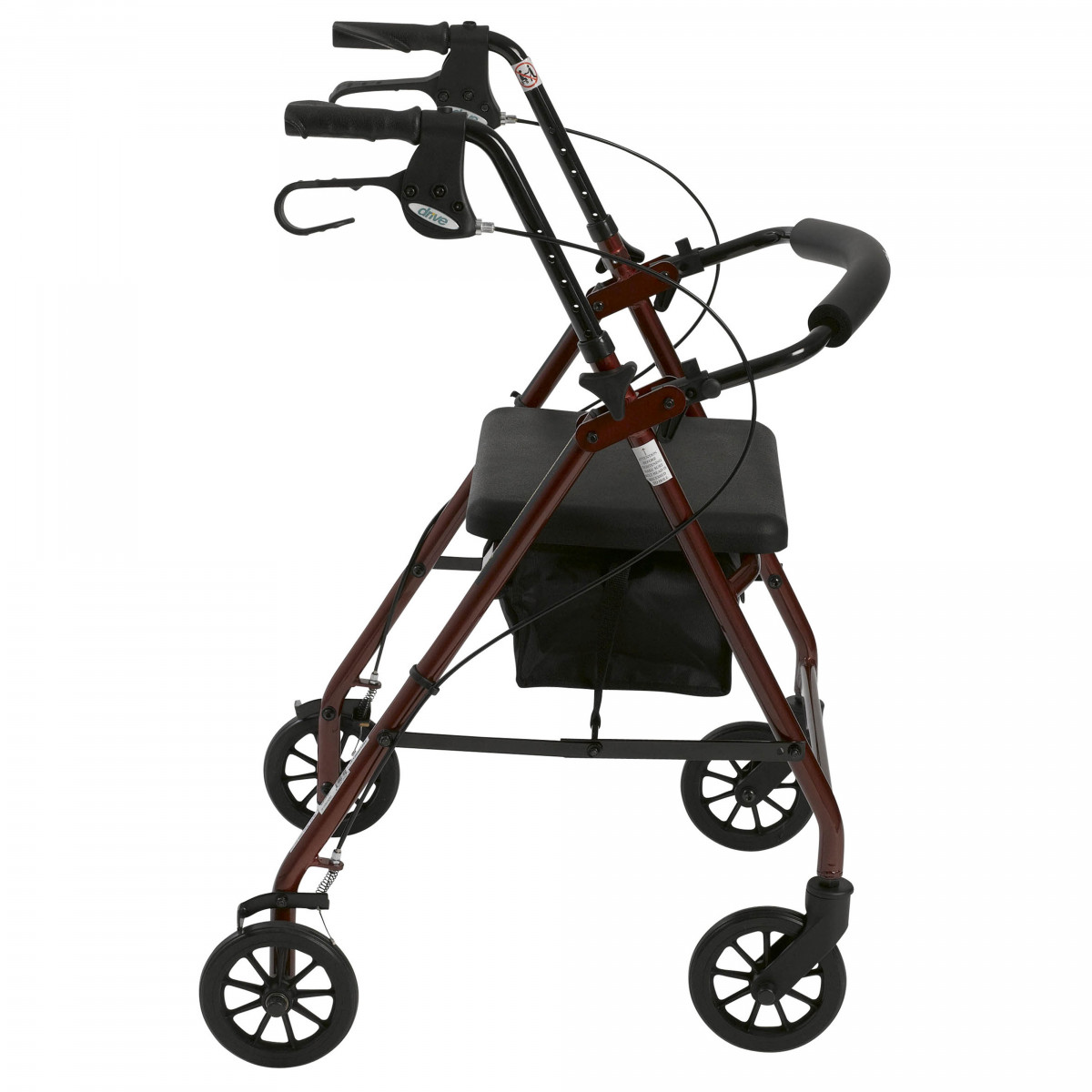 lightweight rollator with fold up and removable back support by drive 075