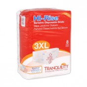 Tranquility HI-Rise Bariatric Briefs 3X-Large Super Absorbency