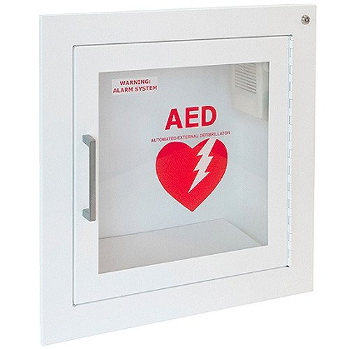 Recessed AED Cabinet with Alarm