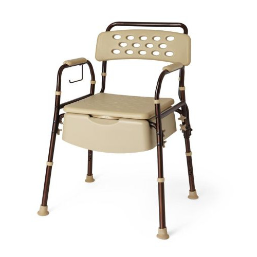 Medline Elements Bedside Commode, Microban