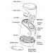 Comp XP Deluxe Compressor Nebulizer Parts