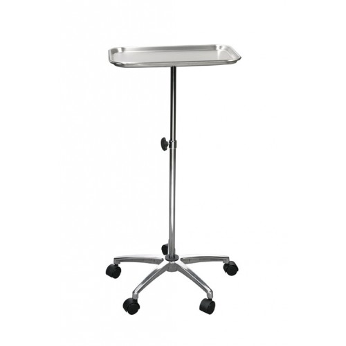Mayo Instrument Tray Stand with Mobile Wheeled Caster Base
