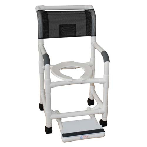 MJM PVC Shower Chair with Sliding Footrest