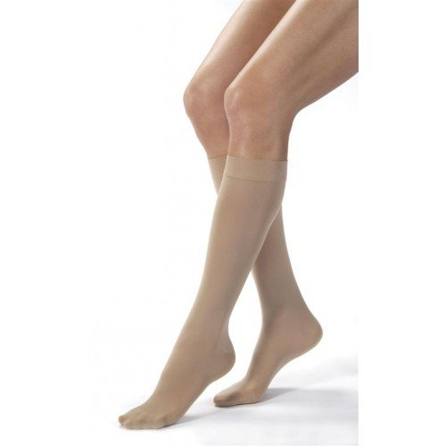 Jobst Opaque Knee High Compression Socks CLOSED TOE 15-20 mmHg