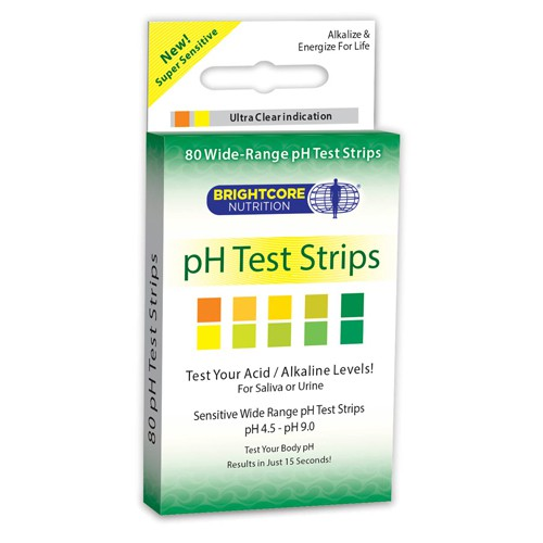 Sweet Wheat pH Health pH Test Strips for Saliva and Urine