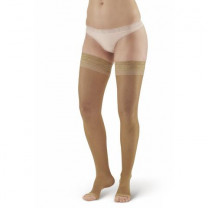 AW Style 45 Sheer Support Open Toe Thigh Highs w/Top Band - 15-20 mmHg
